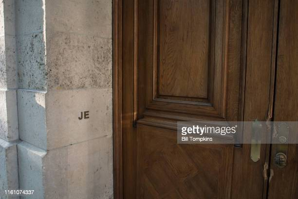 MANDATORY CREDIT Bill Tompkins/Getty Images The townhouse where the financier Jeffrey Epstein is accused of engaging in sex acts with underage girls...