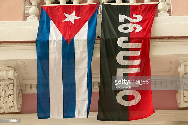 26 july flag and cuban flag, havana - july stock pictures, royalty-free photos & images