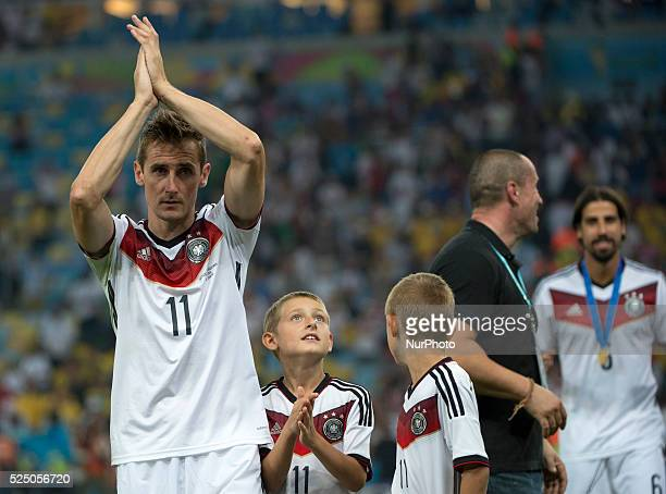 Klose celebration in match between Germany and Argentina corresponding to the 2014 World Cup final played at the Maracana Stadium July 13 2014 Photo...