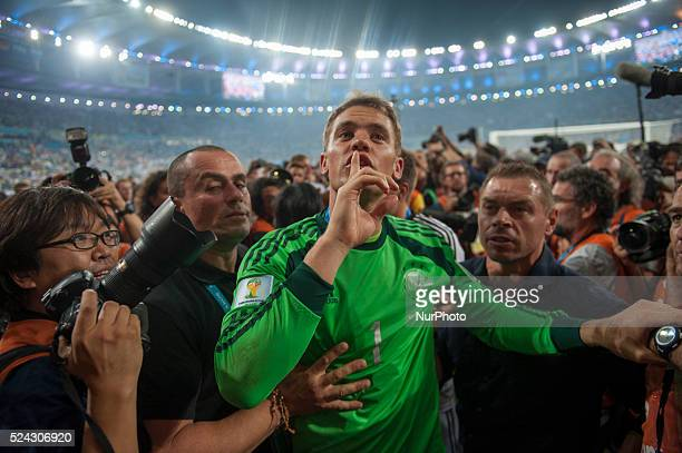 Neuer in match between Germany and Argentina corresponding to the 2014 World Cup final played at the Maracana Stadium July 13 2014 Photo...