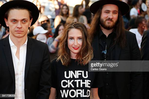 TORONTO ON JUNE 19 July Talk pose on the red carpet at the IHeartRadio MuchMusic Video Awards on June 19 2016