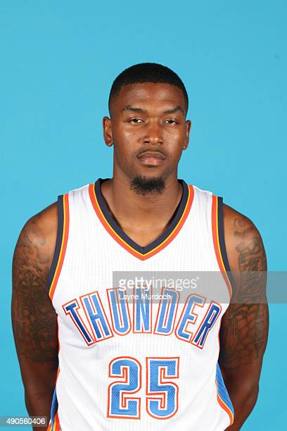 Julyan Stone of the Oklahoma City Thunder poses for a portrait during 2015 NBA Media Day on September 28 2015 at the Thunder Events Center in Edmond...