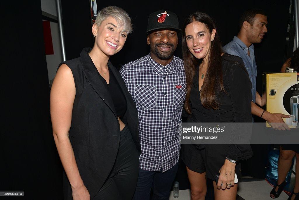 Julz, DJ Irie and Jaime Primak Sullivan hosts event at Lou La Vie on November 8, 2014 in Miami, Florida.