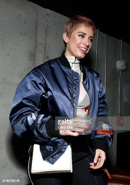 Julz Goddard attends the Heron Preston Tequila Avion Dance Party in Celebration Of Heron Preston 'Public Figure' at Public Arts on February 13 2018...