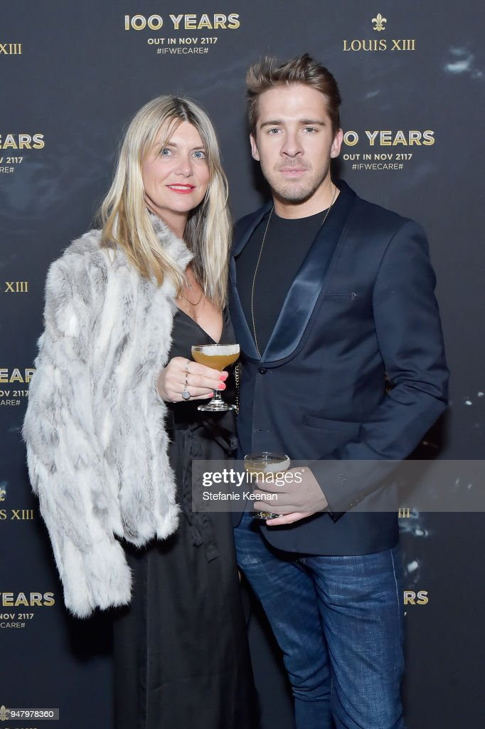 Julz Valiant (L) and Hugh Sheridan attend LOUIS XIII Cognac Presents '100 Years' - The Song We'll Only Hear #IfWeCare - by Pharrell Williams at Goya Studios on April 17, 2018 in Los Angeles, California.