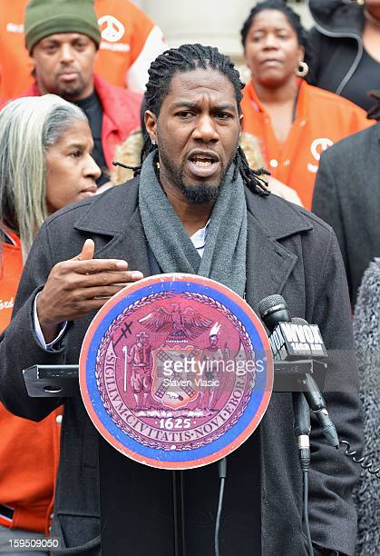 Jumaane D Williams attends the 4th Annual Peace Week Press Conference at City Hall on January 14 2013 in New York City