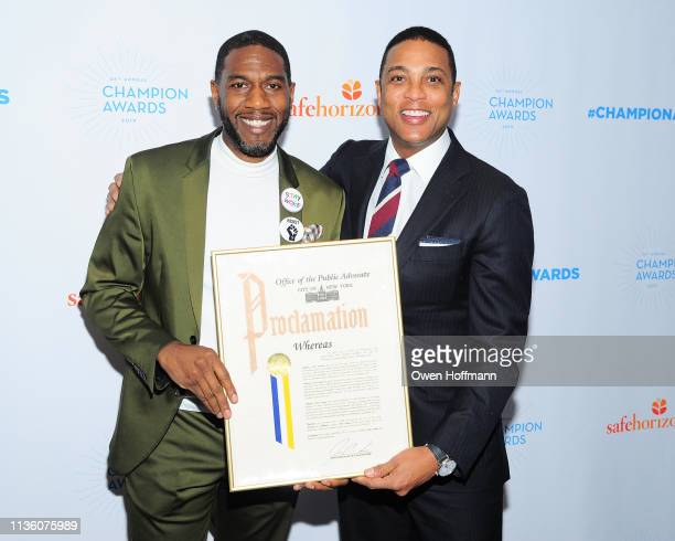 Jumaane Williams and Don Lemon attend Safe Horizon's Champion Awards at The Ziegfeld Ballroom on April 9 2019 in New York City