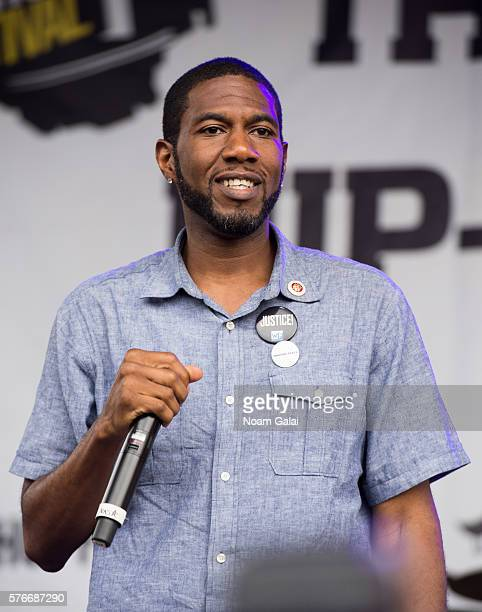 Jumaane Williams speaks during the 12th Annual Brooklyn Hip Hop Festival finale concert at Brooklyn Bridge Park on July 16 2016 in New York City