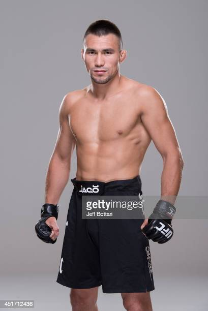 Jumabieke Tuerxun poses for a portrait during a UFC photo session at the Mandalay Bay Convention Center on July 3 2014 in Las Vegas Nevada