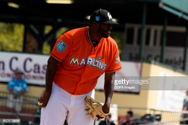 Jumbo Diaz relieved Conley after his departure from the match for the inconvenience obtained during his opening Miami Marlins played St Louis...