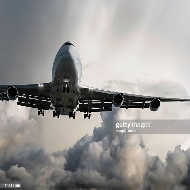 jumbo jet Passagierflugzeug Landung im Sturm