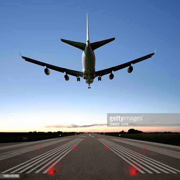 XXXL jumbo jet airplane landing