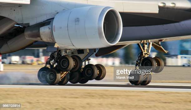 jumbo - landing gear stock photos and pictures