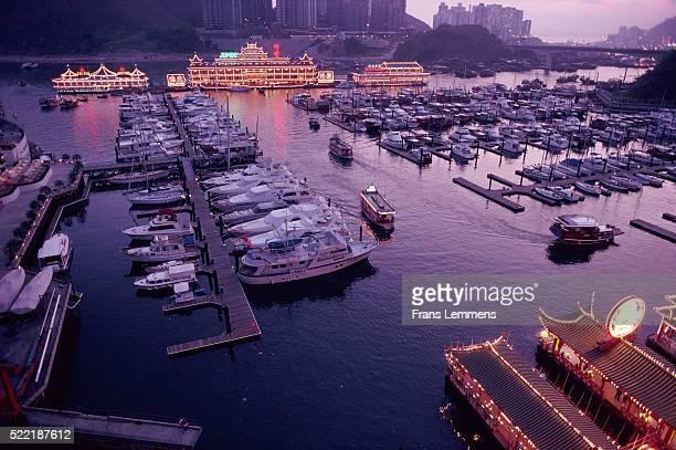 Jumbo restaurant in harbour, Hong Kong, China