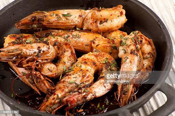 ジャンボエビ - 車海老料理 ストックフォトと画像