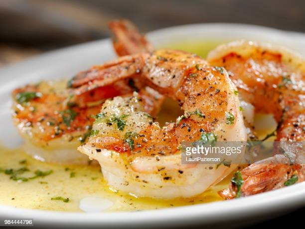 jumbo tiger prawn scampi - seafood stock pictures, royalty-free photos & images