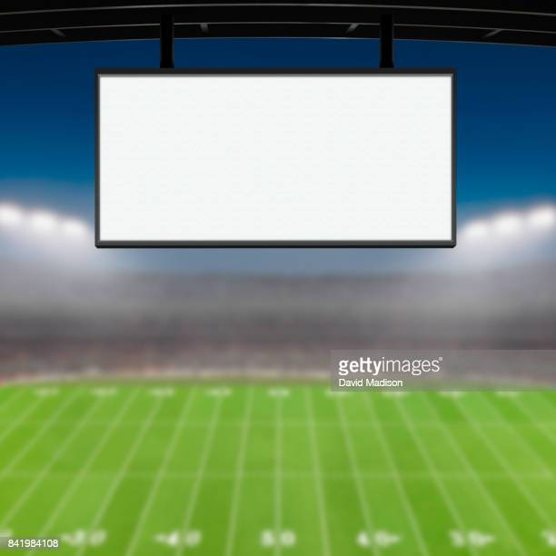 jumbotron large scale screen in sports stadium - large scale screen stock photos and pictures