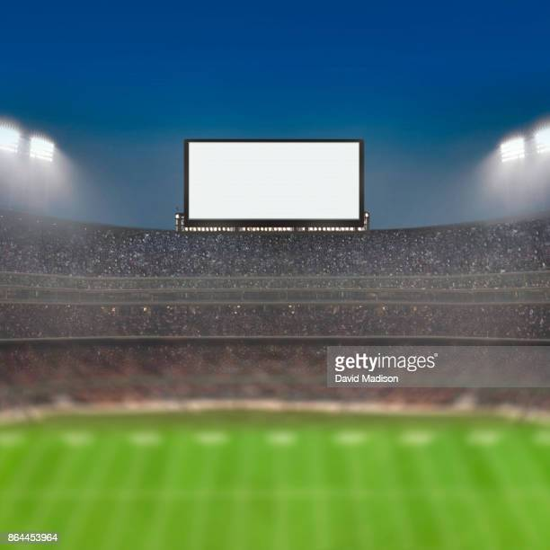 jumbotron large scale screen in sports stadium - stadium stock pictures, royalty-free photos & images