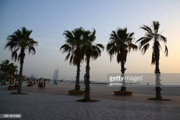 Jumeira beach at sunset, Dubai, UAE