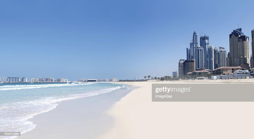 Jumeirah Strand und Stadt : Stock-Foto