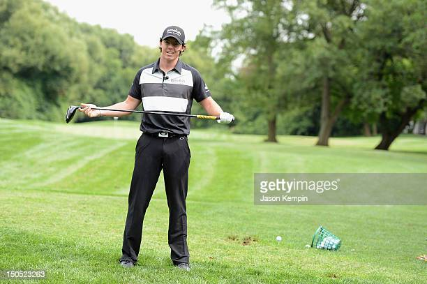 Jumeirah Brand Ambassador Rory McIlroy hosts Junior Golf Clinic For City Parks Foundation at City Parks Junior Golf Center on August 20 2012 in...