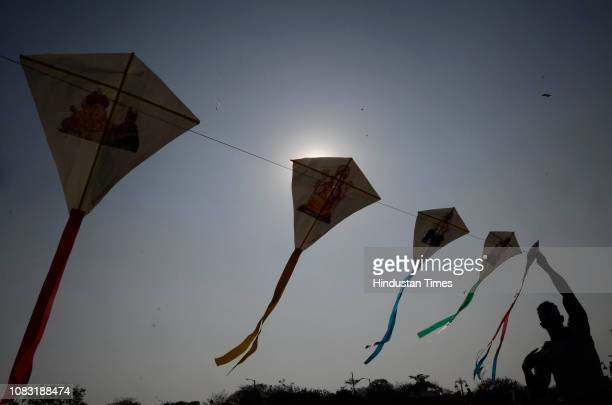 Jumla Kite festival organized by City Congress unite to protest against PM Narendra Modi on the occasion of Makar Sankranti Festival at Taljai hill,...