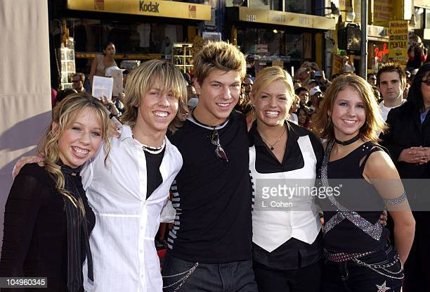 Jump 5 during The Lizzie McGuire Movie Premiere at The El Capitan Theater in Hollywood California United States