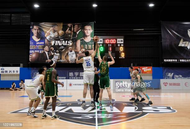 Jump ball prior to the SBL Finals Game Six between Taiwan Beer and Yulon Luxgen Dinos at Hao Yu Trainning Center on April 30, 2020 in New Taipei...