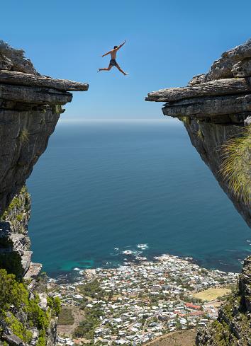 Jump! Believe in yourself 1128206293