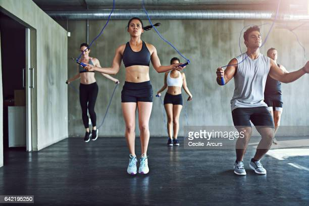 jump for heart health - skipping along stock pictures, royalty-free photos & images