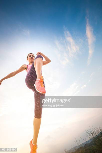 Jump of woman