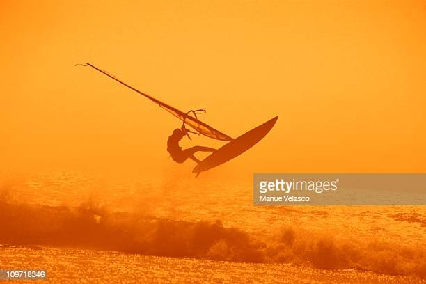 jump over the waves - tarifa stock photos and pictures