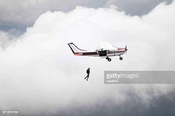 jump - skydiving stock photos and pictures