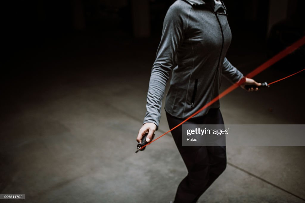 Jump Rope Exercise : Stock Photo