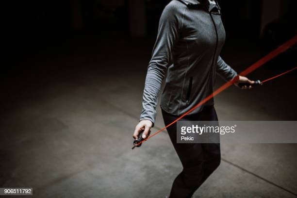 jump rope exercise - skipping along stock photos and pictures