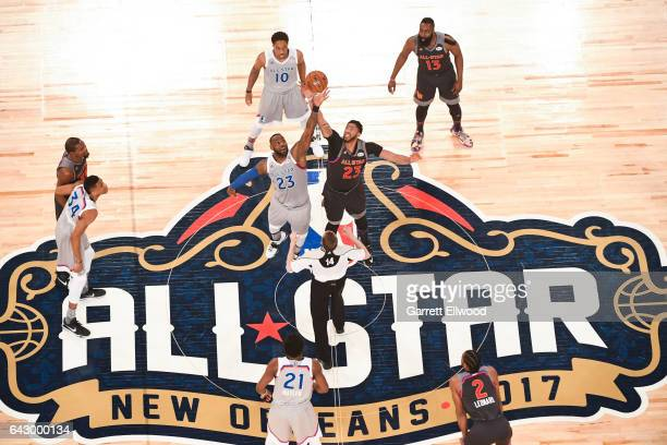 Jumpball during the NBA AllStar Game as part of the 2017 NBA All Star Weekend on February 19 2017 at the Smoothie King Center in New Orleans...