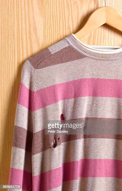 Jumper with moth holes