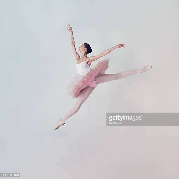Jumping ballet dancer