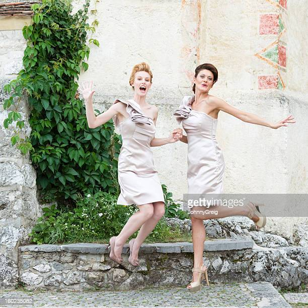 Jumping Bridesmaids