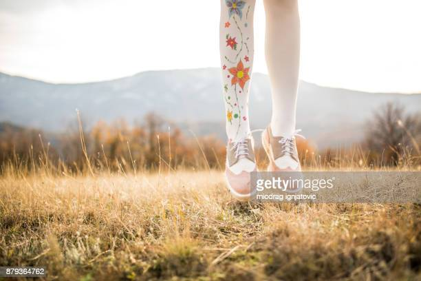 jumping girl - gypsy stock pictures, royalty-free photos & images