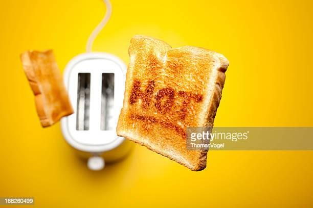 Saut toast de pain chaud
