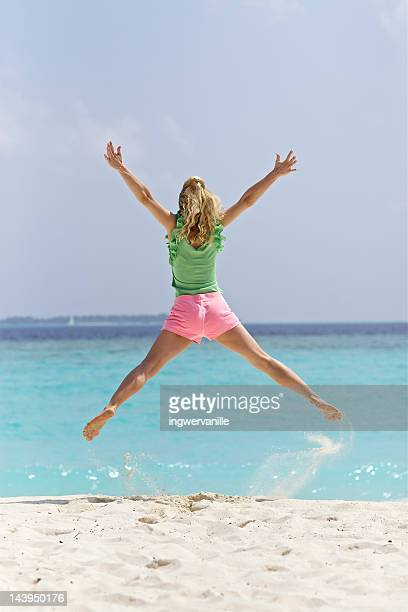 Jumping in front of sea