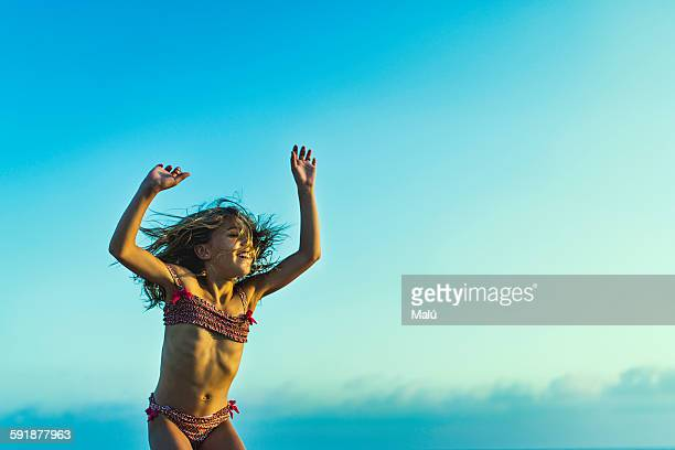 Cute Teen Girl On The Beach Stock Photo - Download Image