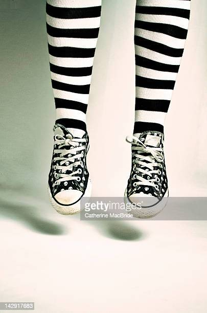 jumping legs - catherine macbride stock pictures, royalty-free photos & images