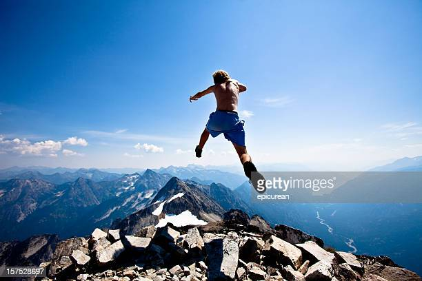 Jumping off of a mountain