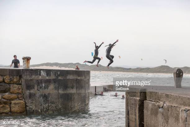 Jumping Off the Harbour
