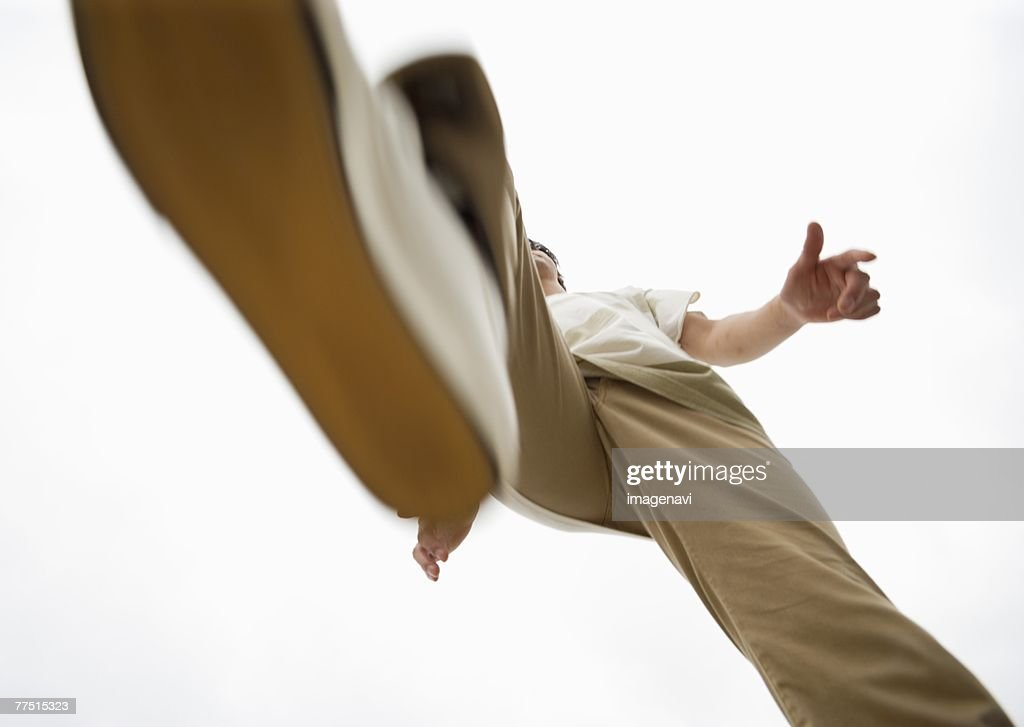 Jumping over : Stock Photo