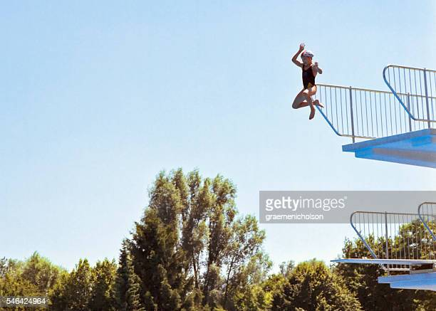 jumping - diving platform stock pictures, royalty-free photos & images