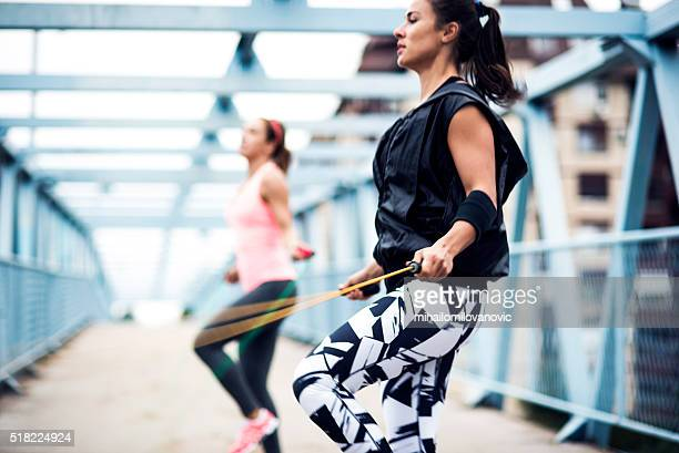 jumping rope - skipping rope stock pictures, royalty-free photos & images