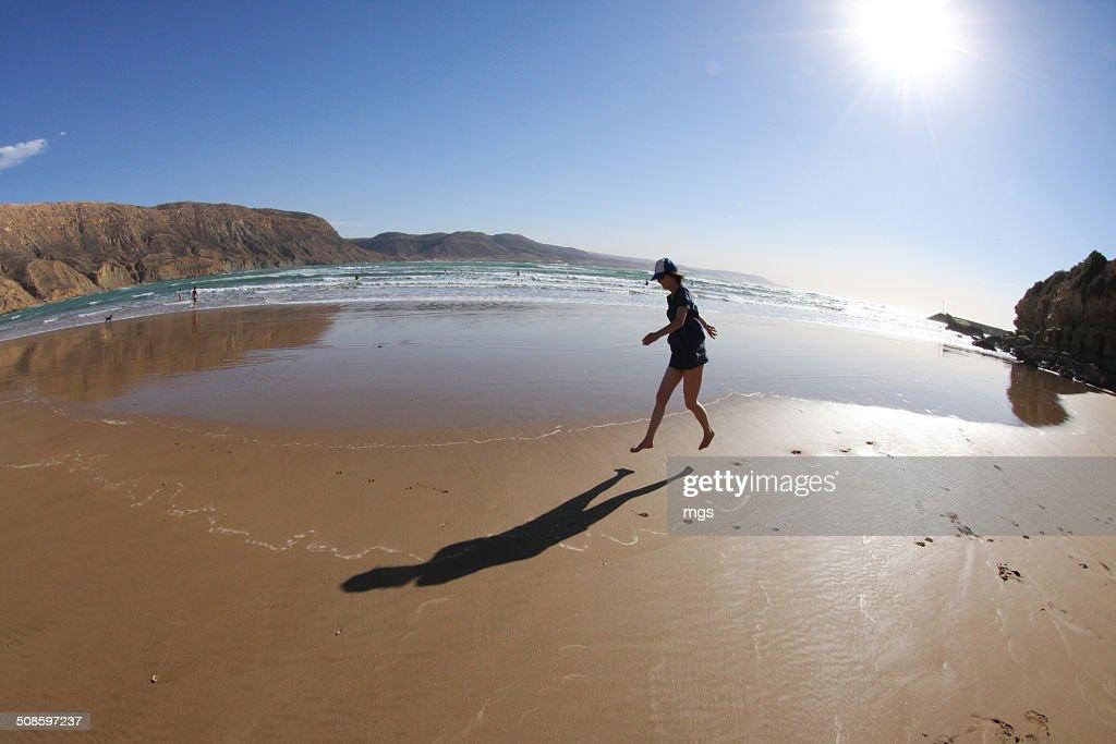 Jumping woman : Stock Photo